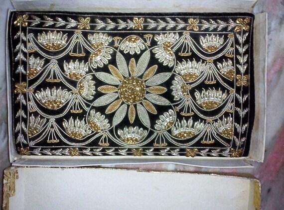 Vintage Zardozi Purse Clutch Hand Made Beaded