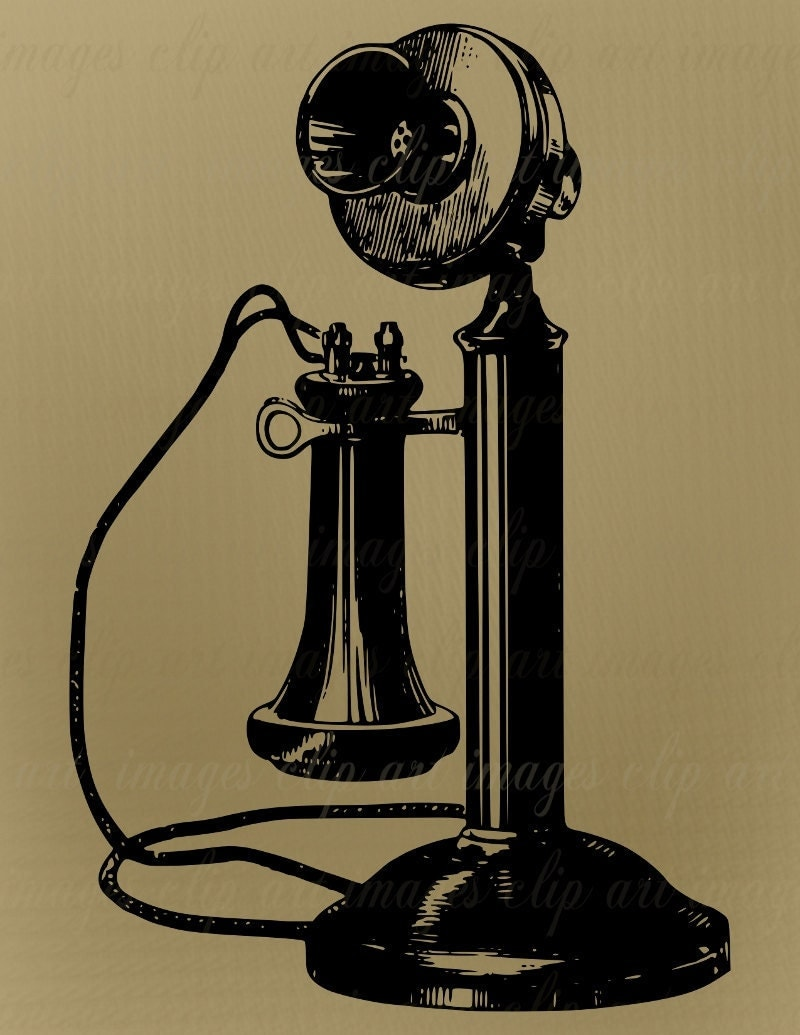 vintage telephone clipart - photo #1