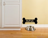 Dog Decal - Personalized Dog Bone Wall Decal