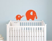Children Wall Decals - Elephant Nursery Wall Stickers - 2 Piece Elephant Nursery Decals