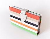 Travel Journal - Stripes on Linen - Custom Book