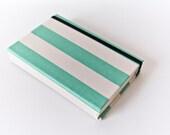 Retro Sea Foam Green Striped - Custom Watercolor Journal/or Sketchbook