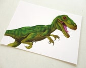 Dinosaur postcard - dinosaur art