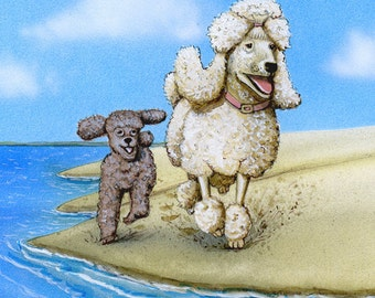 Poodle art - original illustration