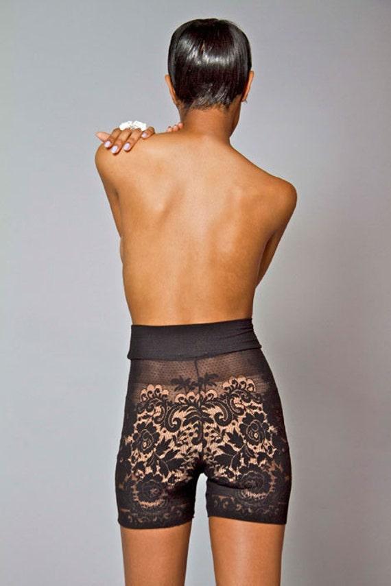 Black Lace Bike Short