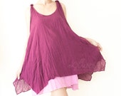 Two Layer Spring Summer Dress in Purple