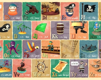 Pirate Alphabet Print - A3