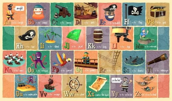 Pirate Alphabet Print - A3