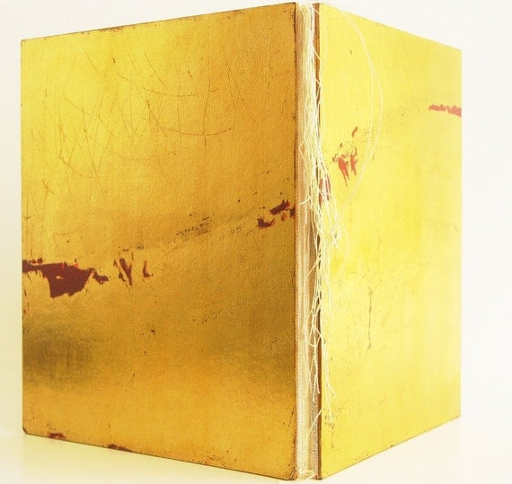 """Bookbinding : Limited Edition Book """"Australia Suite"""" in Gold Leaf"""