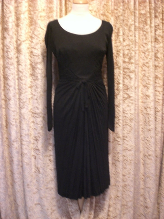 Late 1940s / early 1950s Cocktail Dress Edward Abbott - The Glamourist : SALE