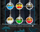 Heroes NinjaGo Faces ZX Zipper Pull Party Pack - 6 Bottle Cap Necklaces - Birthday Party Favors - Mix and Match - HD Images