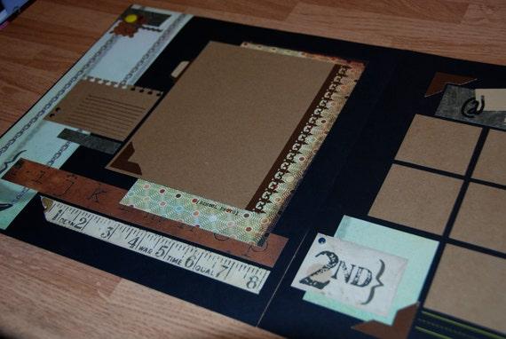 SCHOOL YEARS / Graduation Memories Pre-made 12x12 Scrapbook Album Pages