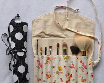 Make-Up Brush Roll / Organizer  - PDF Sewing Pattern & Tutorial