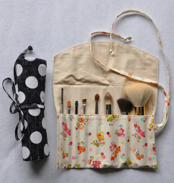 Make Up Brush Roll Organizer Pdf Sewing Pattern