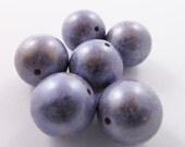 10 Vintage 12mm Italian Lavender Lucite Beads Bd186
