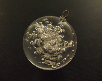 Vintage 30mm Lucite Crystal Pendants Pd79