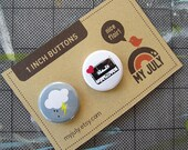 Mixed Tape 1 Inch Button Set