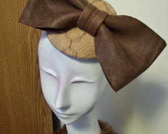 Leather and Lace fascinator