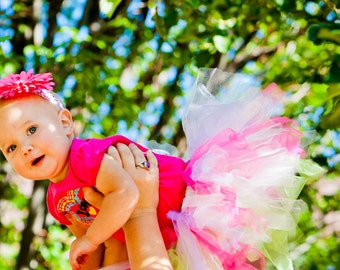 Baby Tutu:  Custom 6 Months, 12 Months, 18 Months - You Choose Color(s)