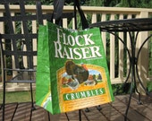 Market Tote - Upcycled Chicken Feed Sack - Gift Bag