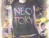 Watercolor - Rock n Roll Neo Tokyo - 8.5x11 - PRINT
