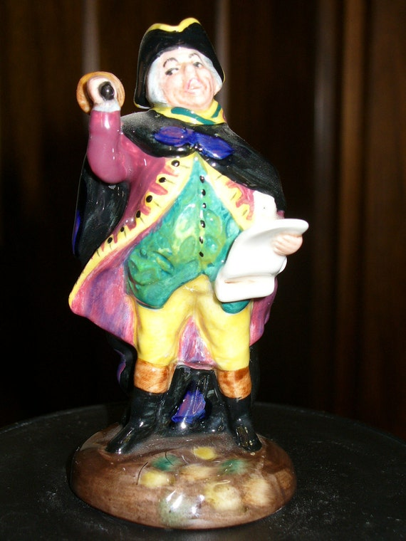 Royal Doulton Mini-Figurine Copyright 1952, HN 3261 TOWN CRIER