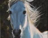 I'll Come Running -- Running White Horse Open Edition Print