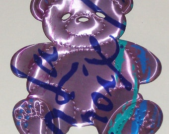 Teddy Bear Magnet - Pastel Pink LaCroix Sparkling Seltzer Water