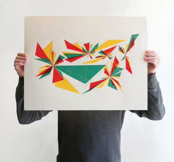 Abstract Geometric Screen Print poster - Departure (Limited Edition)