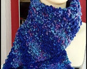 Got the Blues Hand-knit Scarf - warmest, thickest, most luxurious scarf you'll ever find (RESERVED FOR ROBIN)