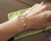 Personalized White Gold Name Bracelet