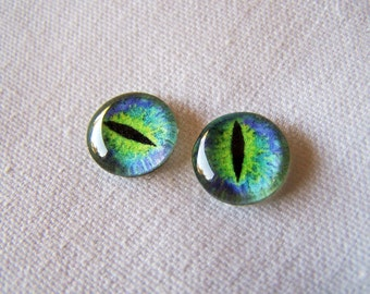 12mm glass eyes  fantasy eyes steampunk jewelry and pendant making
