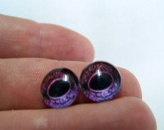 Reptile eyes 12mm glass eyes for arts and crafts