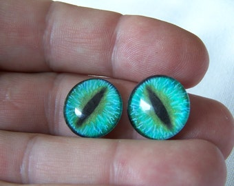 Glass eyes for jewelry making 18mm glass cabochons