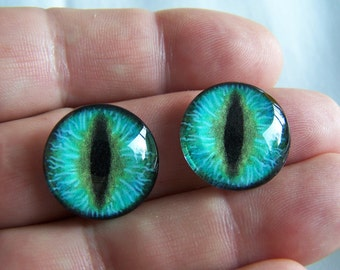 Glass eyes for jewelry making 20mm cabochons