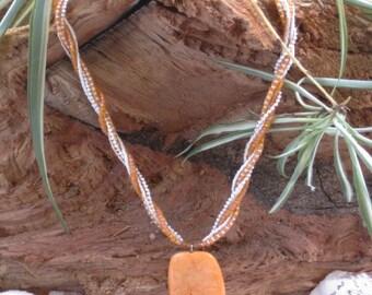 Tangerine Turquoise Necklace