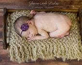 Newborn Headband Dark Violet Hydrangea Flower Headband Beautiful Newborn Photo Prop