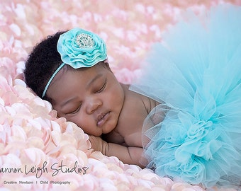 Sweet Aquamarine Dream Tutu Newborn Tutu Aqua Tutu Baby Girl Tutu Cake Smash Tutu Set Blue Tutu Blue Baby Girl Tutu Newborn Photo Prop
