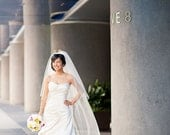 Cathedral Veil Length - Super Full Veil with Blusher
