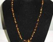 Tiger's Eye Beaded Necklace