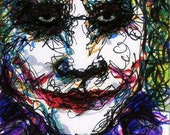 Original ACEO - The Joker - Comes Ready to Display