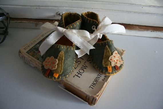 Woodland wool felt shoes