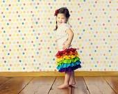 Girls Rainbow Birthday Skirt, children's clothing, kids, toddler, baby