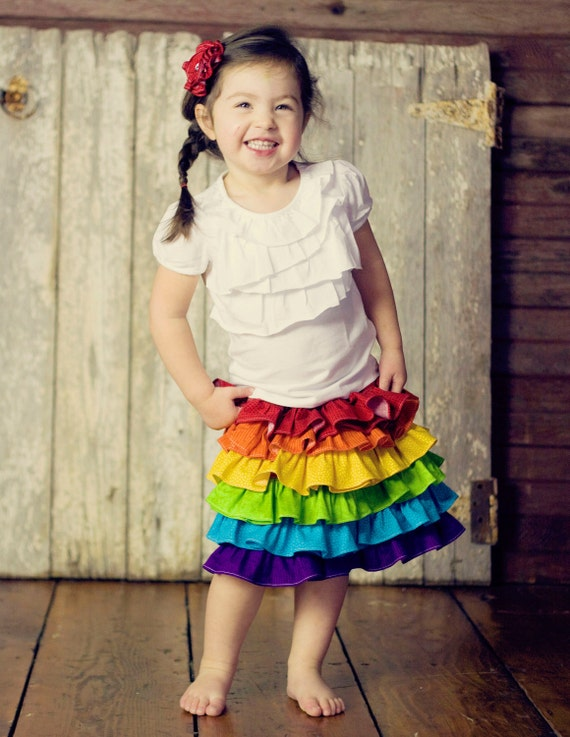 Girls Rainbow Skirt Childrens Clothing Summer By Sweetsapling