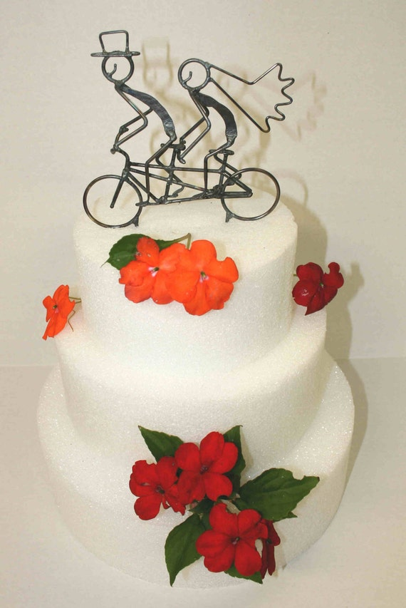 Tandem Bicycle Cake Topper