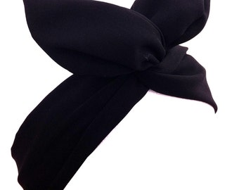 Black wire headband Dolly bow