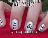 Typography Nail Decals Black and Clear Simply Silhouette by Inspired Nails