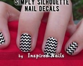 Chevron Nail Decals Black and Clear Simply Silhouette by Inspired Nails