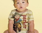 Cowboy Baby Shirt, Personalized Boy's Snap-Shirt Western Outfit, Infant Clothing