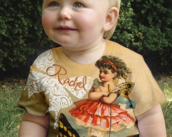 Fairy Shirt, Personalized Girls Fairy and Butterfly T-shirt, Children's Clothing, Girl's Top